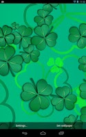 Screenshot of Lucky Shamrocks LWP (Free)