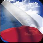 3D Czech Flag + icon