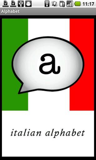 Italian Alphabet Demo