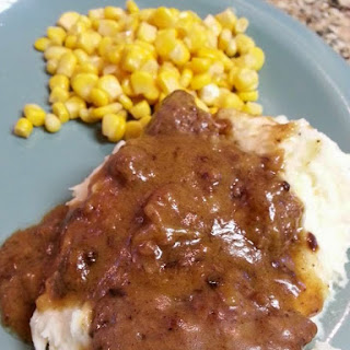 Hamburger Steak and Homemade Brown Gravy
