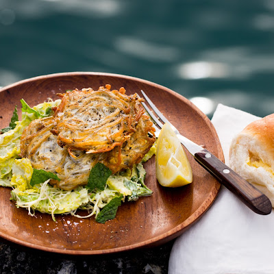 Whitebait Patties And Minted Salad