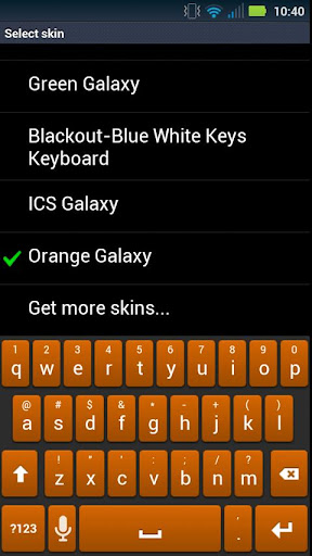 Orange Galaxy Keyboard Skin