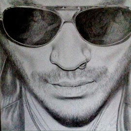 Lenny by Squips Art - Drawing All Drawing ( squips, lenny kravitz, graphite, drawing, portrait )