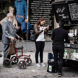 Kaffevagnen by Anders F. Eriksson - People Street & Candids ( sony, events, food, coffee, street, aday.org, people, sonye1855mm, drinks, nex-7 )