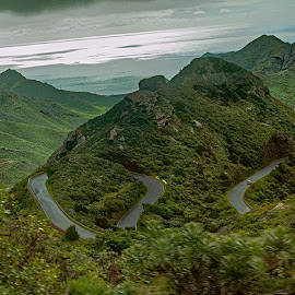 Complicated roads by Radu Eftimie - Landscapes Mountains & Hills ( volcanos, tenerife )
