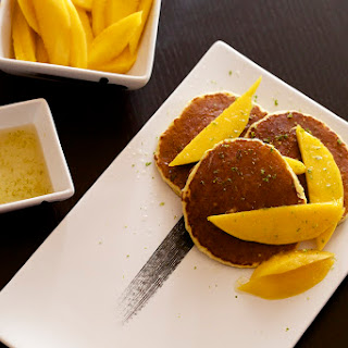 Coconut Pancakes With Mango