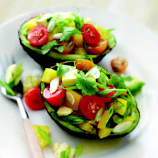 Avocado Salad with Bell Pepper and Tomatoes