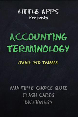 ACCOUNTING Terms Learning Quiz