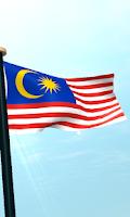Screenshot of Malaysia Flag 3D Free