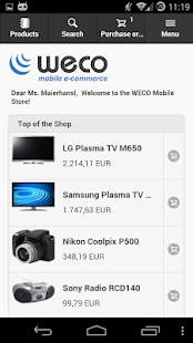 WECO E-Commerce Mobile SMP