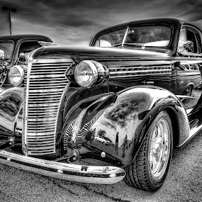 Sedan by Ron Meyers - Black & White Objects & Still Life