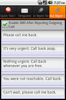 Screenshot of QText:Reject Text & Blacklist