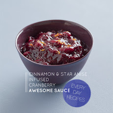 Cinnamon and Star Anise infused Cranberry Sauce