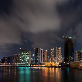 Dubai city by Walid Ahmad - City,  Street & Park  Night ( dubai, night, cityscape, photography, city )