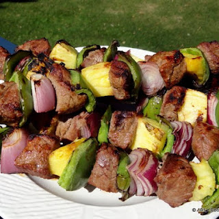 Easy Garlic Beef Kabobs