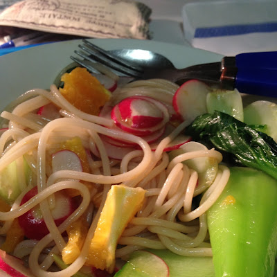 Radish Bok Choy and Orange Noodle Salad