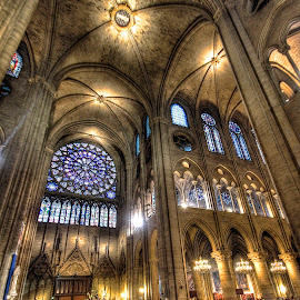 Sainte-Chappelle 5 by Ben Hodges - Buildings & Architecture Places of Worship ( paris, church, hdr, wide angle, france, travel, worship )