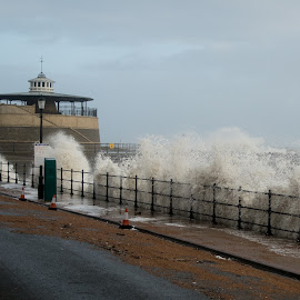 UK Storm 2014 Waves by David Francis - News & Events Weather & Storms ( car, wind, waves, sea, storm )