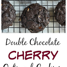 Double Chocolate Cherry Oatmeal Cookies
