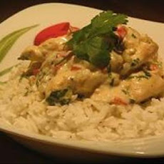 Chilli Chicken With Basil Coconut Cream