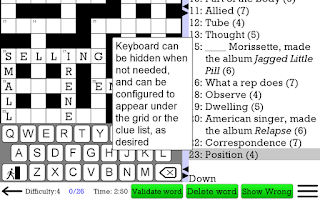 Screenshot of Crossword Unlimited +