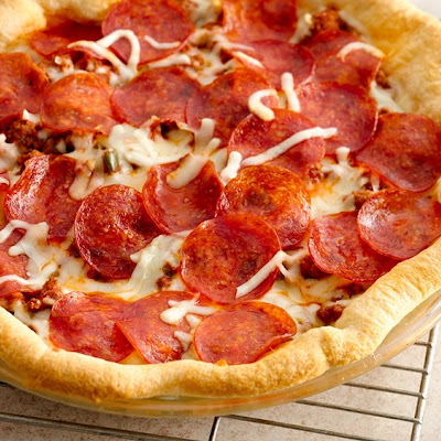 Easy Crescent Pizza Bake