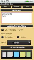 Screenshot of Alarm Sticky Note (reminder)