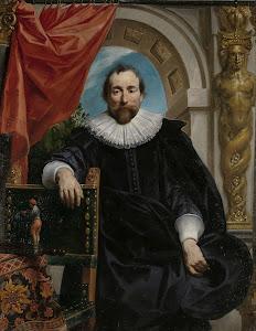 RIJKS: Jacob Jordaens (I): Portrait of Rogier Le Witer 1635