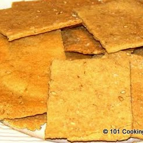 Low Carb Parmesan-Sesame Crackers