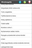 Screenshot of Mindmegette receptek