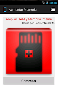 RAM and Interna Memory Enlarge - screenshot