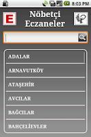 Screenshot of Nöbetçi Eczaneler