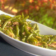 Sauteed Bacon and Steamed String Beans