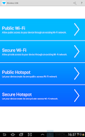 Screenshot of Wireless USB and Tethering