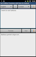 Screenshot of Turkish Offline Translator Pro