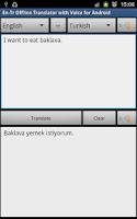 Screenshot of Turkish Offline Translator Pro