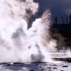 A geyser's winter blast by Steve Outing - Nature Up Close Other Natural Objects ( geyser, yellowstone, national park, volcanic features, nature, vixen geyser, thermal features, tourism,  )