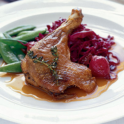 Duck with red cabbage & Madeira gravy