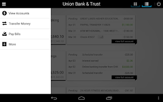 Screenshot of Union Bank & Trust