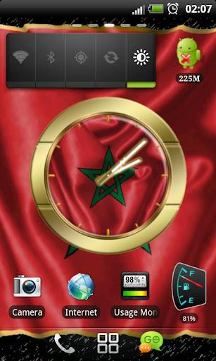 Morocco flag clocks