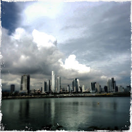 Panama City  by Maria Sotirhos - City,  Street & Park  Skylines ( #panama #panamacity #travel #silver )