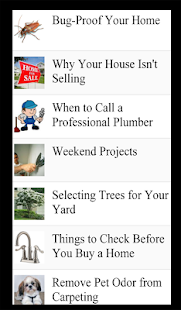 Home Improvement Lists - screenshot