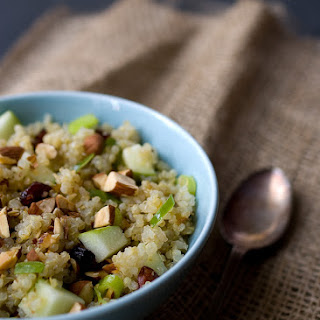 Quinoa, Apple and Almond Salad with Honey Lemon Mint Vinaigrette