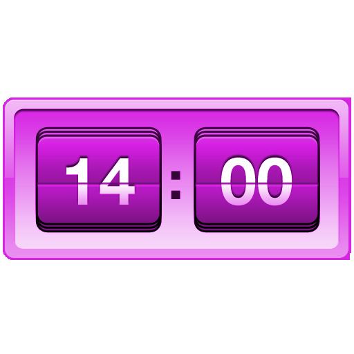 Retro Violet Clock