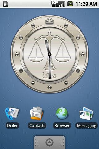 LIBRA - Metal Clock