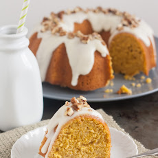 Pumpkin-Ginger Pound Cake Bundt with Maple Cream Cheese Glaze