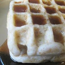 Cornflake Waffles with Honey Sauce