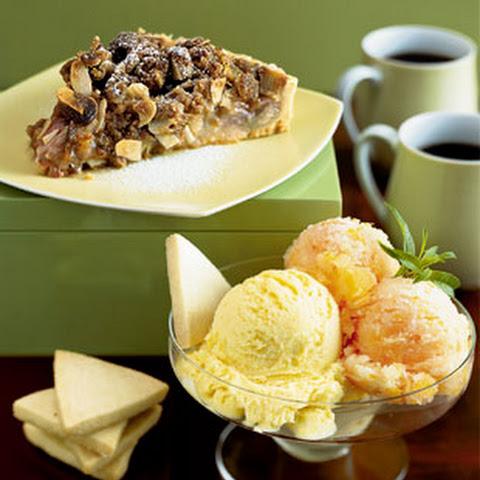 Mango-Lemongrass Ice Cream and Blood Orange Sorbet
