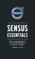 Screenshot of Volvo Sensus Quick Start Guide