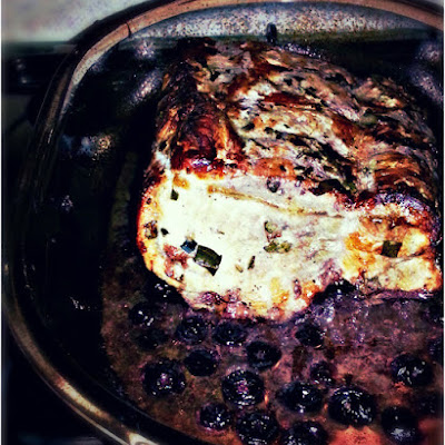 Red Wine and Blueberry Roast Pork